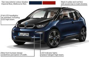 Изменения во внешности BMW i3s 2018