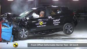 Nissan Leaf 2018 crash-test фронтальный удар